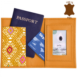 FUNDA PIEL PASAPORTE     BROCADO      AM