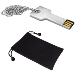 USB 8GB METALICA C/CORREA+FUNDA KEY KIT
