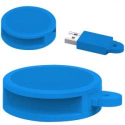USB 8GB REDONDO PVC AZ