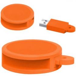 USB 8GB REDONDO PVC NR