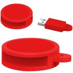 USB 8GB REDONDO PVC RJ