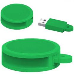 USB 8GB REDONDO PVC VE